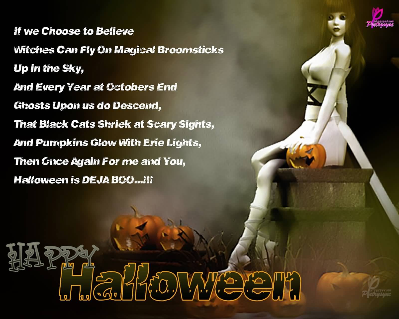 Charmant If We Choose To Believe Witches Can Fly On Magical Broomsticks Up In The  Sky Happy