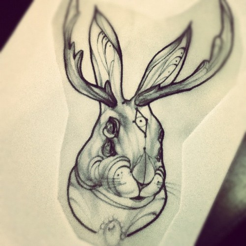 Jackalope Tattoo Tumblr The gallery for -->...