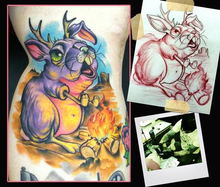 jackalope tattoo designs by scotty munster. Black Bedroom Furniture Sets. Home Design Ideas