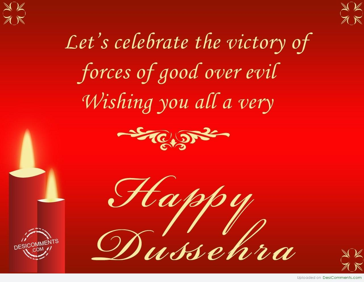 50 beautiful happy dussehra greeting photos and pictures lets celebrate the victory of forces of good over evil wishing you all a very happy kristyandbryce Images