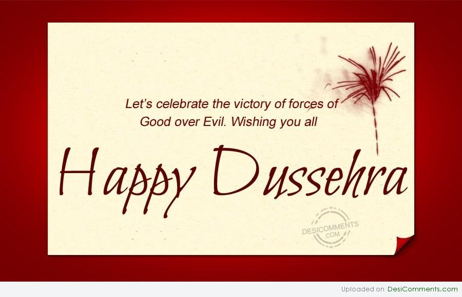 50 adorable pictures and images of dussehra wishes lets celebrate the victory of forces of good over evil wishing you all happy dussehra m4hsunfo
