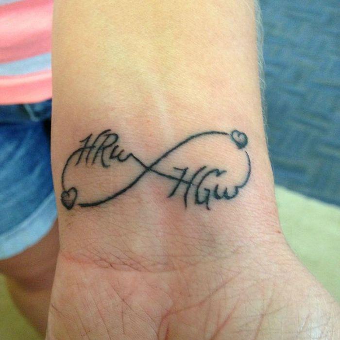6bc069123 Love Infinity Tattoo On Left Wrist