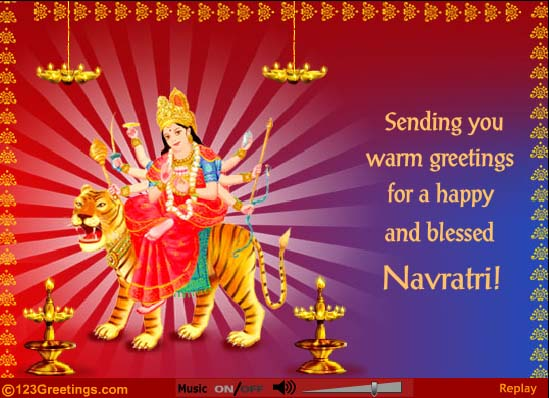 55 most beautiful happy navratri 2016 greeting images and photos sending you warm greetings for a happy and blessed navratri 2016 m4hsunfo