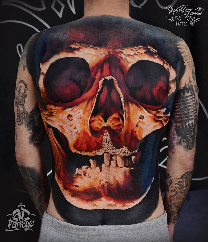 Amazing Sugar Skull Tattoo On Leg Calf