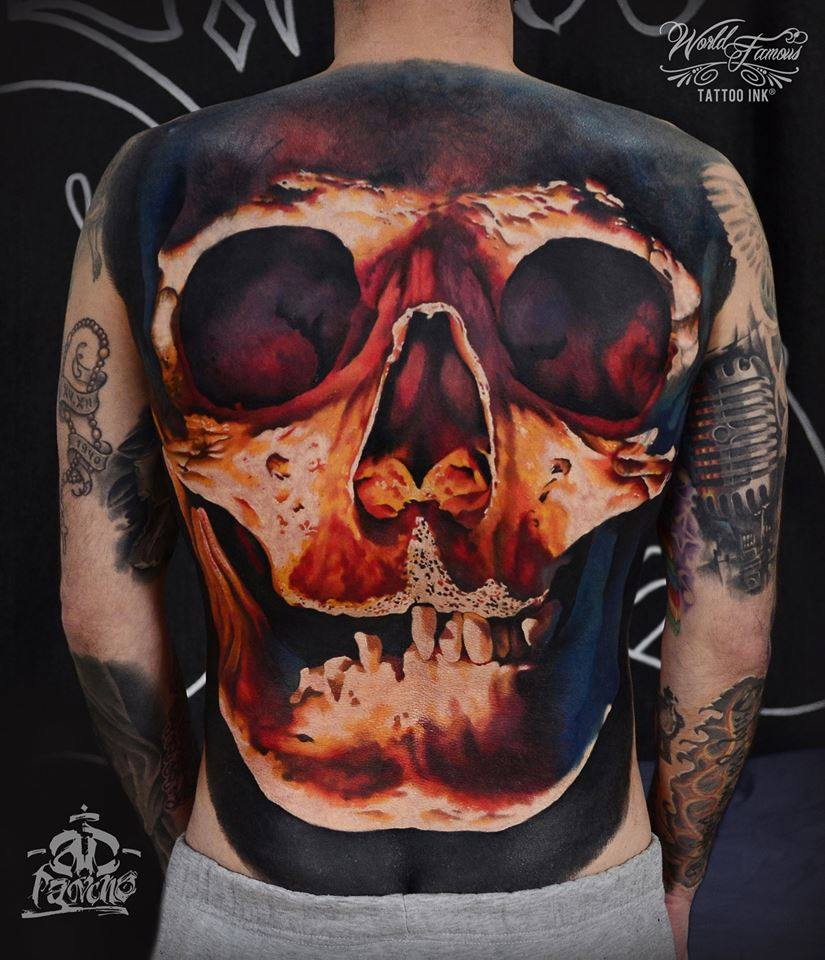 Skull Tattoos: Amazing Sugar Skull Tattoo On Leg Calf