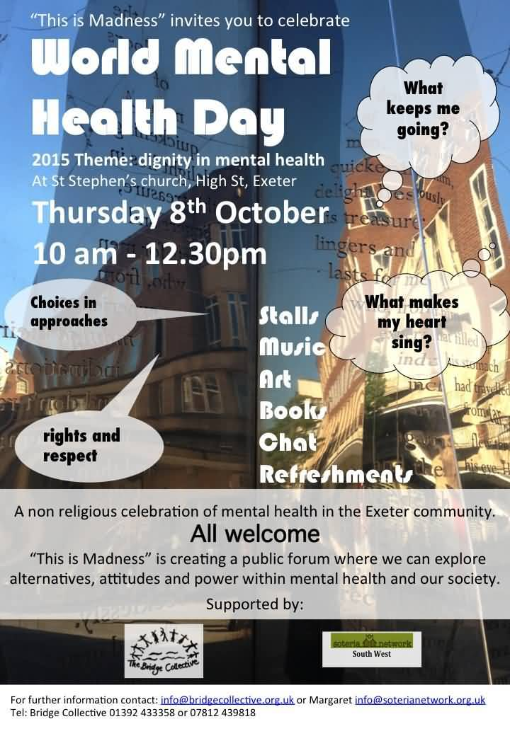 This Is Madness Invites You To Celebrate World Mental Health Day Poster