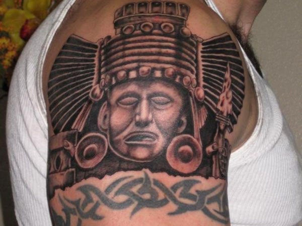 12+ Mayan Shoulder Tattoos