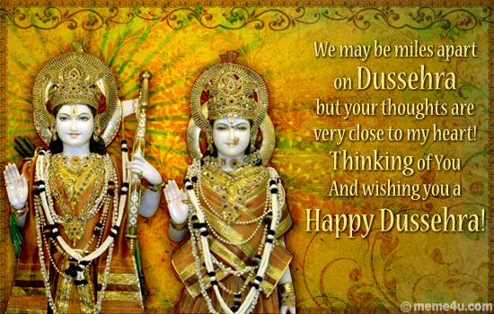 50 beautiful happy dussehra greeting photos and pictures we may be miles apart on dussehra but your thoughts are very close to my heart m4hsunfo