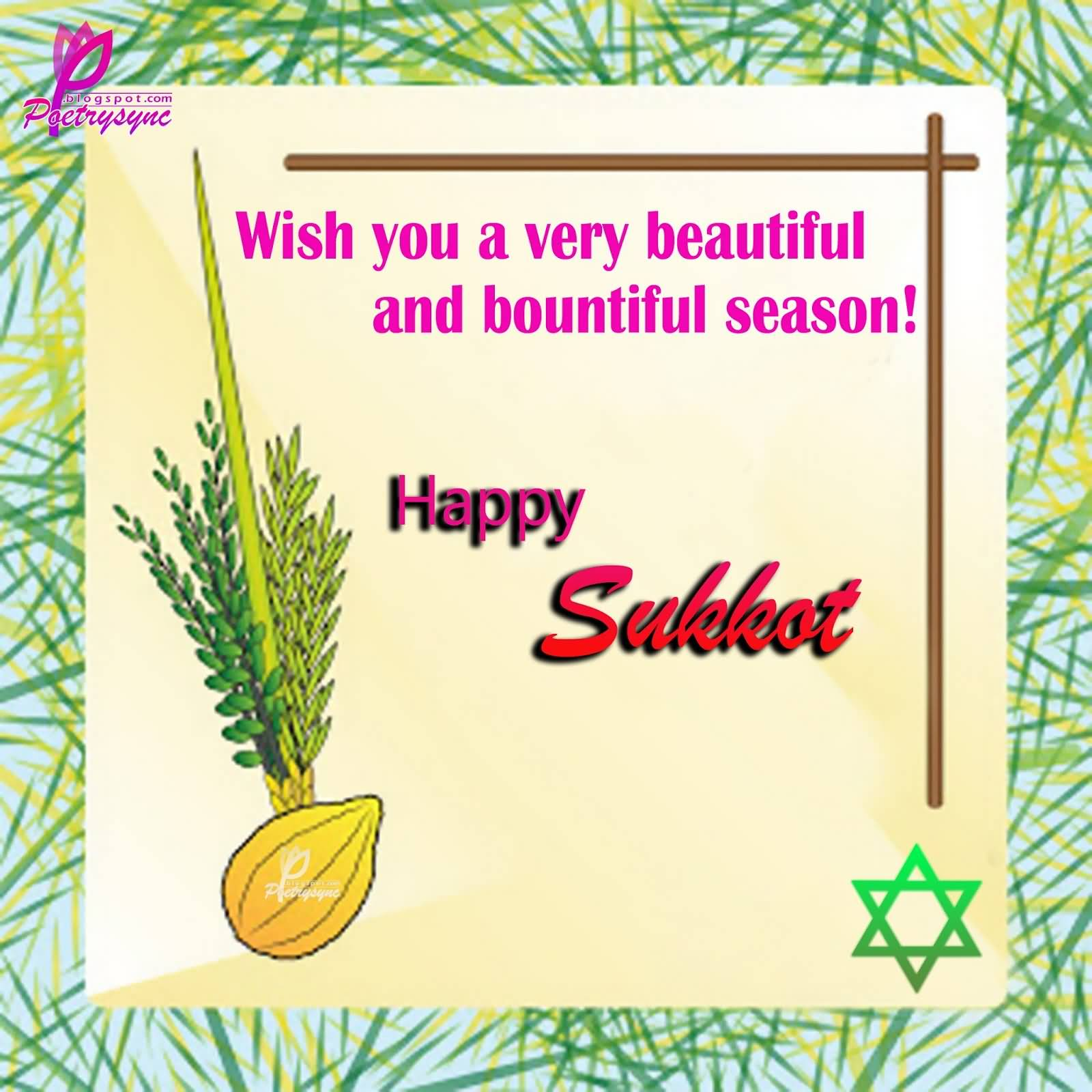 42 best pictures and images of happy sukkot 2016 greetings wish you a very beautiful and bountiful season happy sukkot greeting card kristyandbryce Choice Image