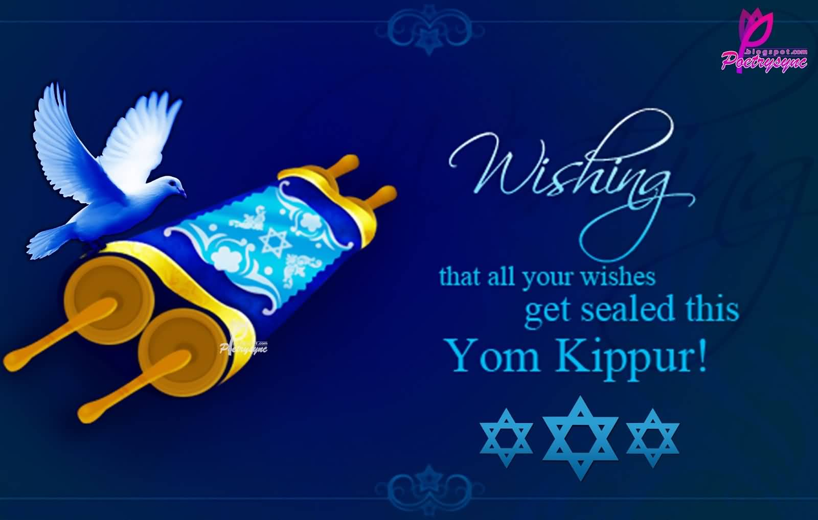 42 best pictures and photos of yom kippur wishes wishing that all your wishes get sealed this yom kippur greeting card m4hsunfo