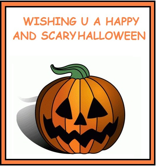 22 most beautiful happy halloween greeting card images and photos wishing you a happy and scary halloween greeting card m4hsunfo