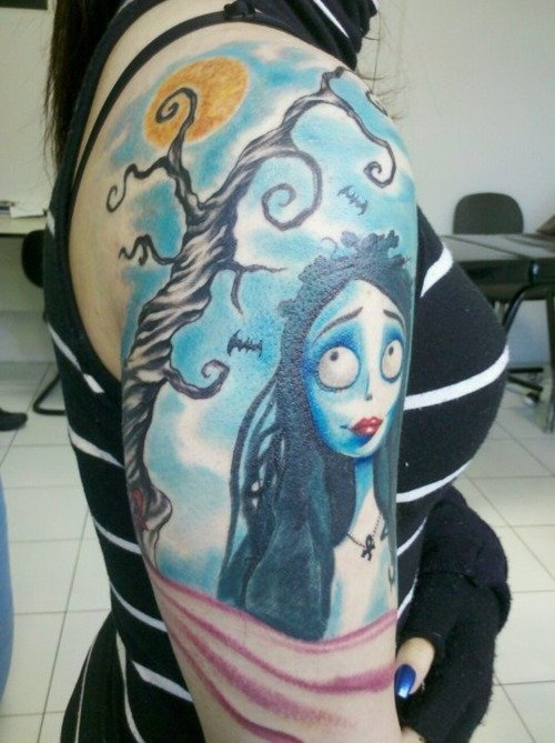 Latest Corpse Bride Tattoo Designs