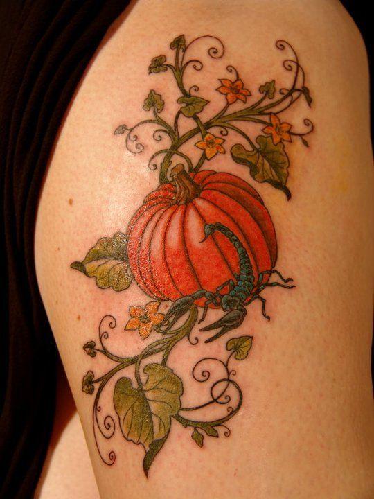 25 cute pumpkin tattoos for Cute side tattoos