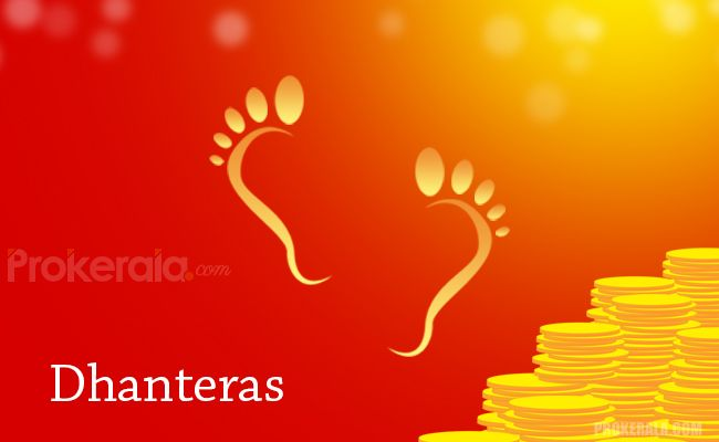 Dhanteras wishes in hindi greeting card dhanteras greetings footprints of goddess lakshmi and golden coins clipart m4hsunfo