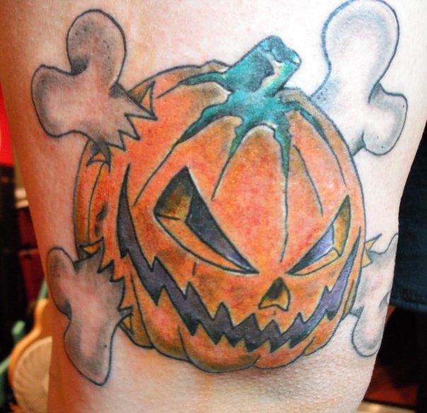 35 Latest Evil Pumpkin Tattoo