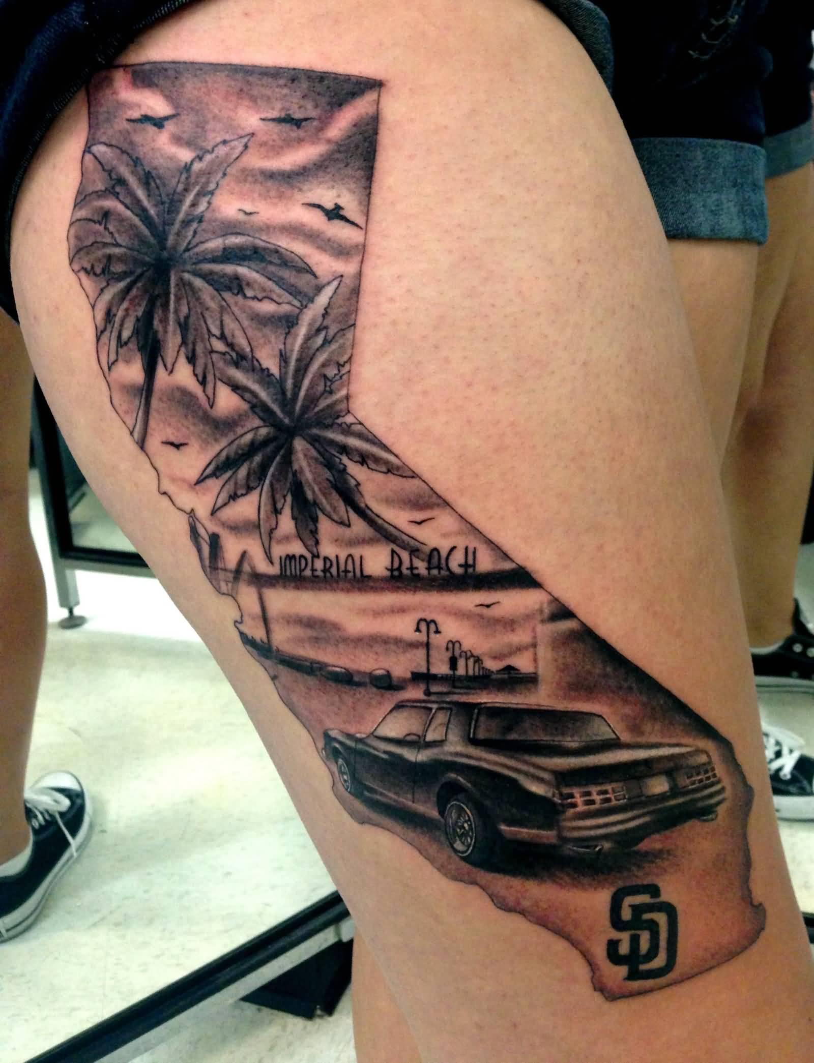 34 awesome california tattoos. Black Bedroom Furniture Sets. Home Design Ideas