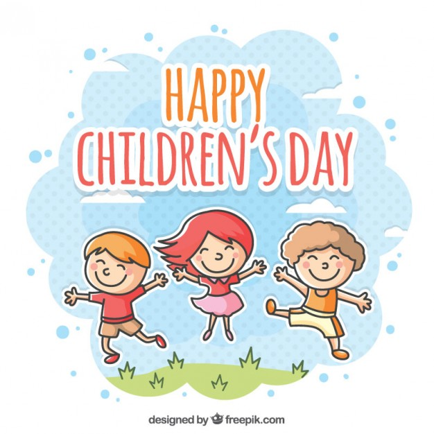 Happy children's day background and gift cards collection. vector  illustration of universal children day poster. greeting