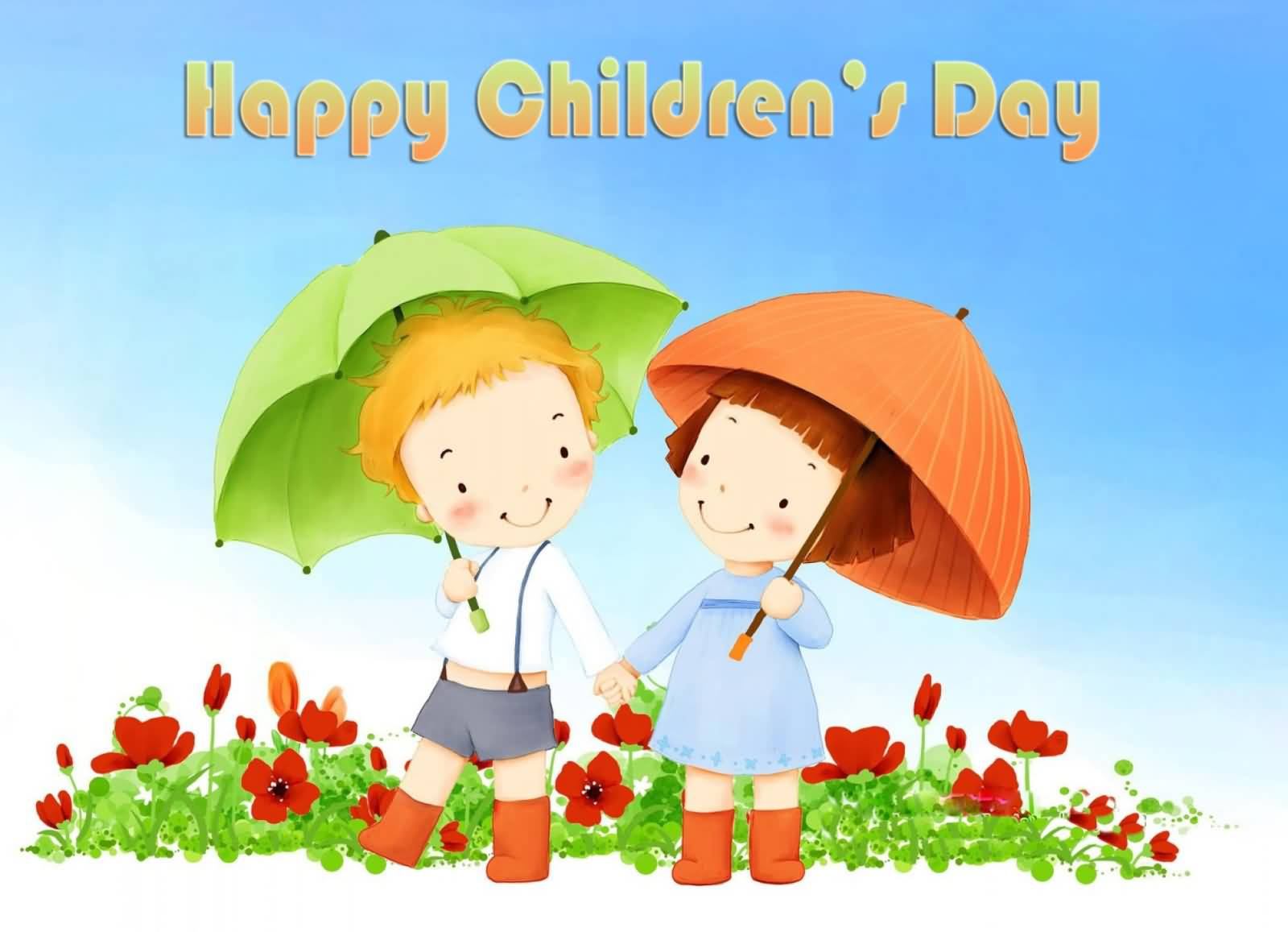 50 most adorable greeting pictures and photos of childrens day 2016 happy childrens day two cute kids hand in hand picture m4hsunfo