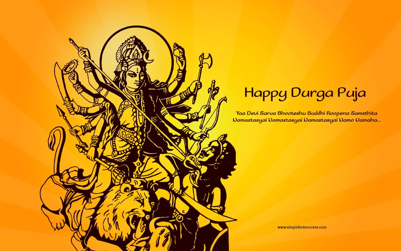 50 very beautiful happy durga pooja greeting pictures and photos happy durga puja greetings wallpaper image kristyandbryce Images
