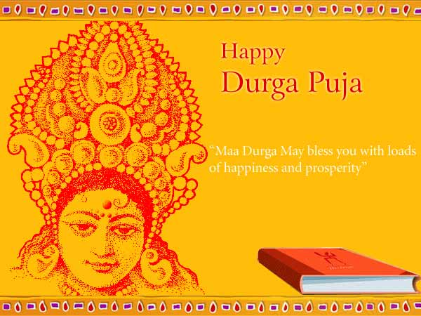 Happy durga puja maa durga may bless you with loads of happiness and happy durga puja maa durga may bless you with loads of happiness and prosperity m4hsunfo