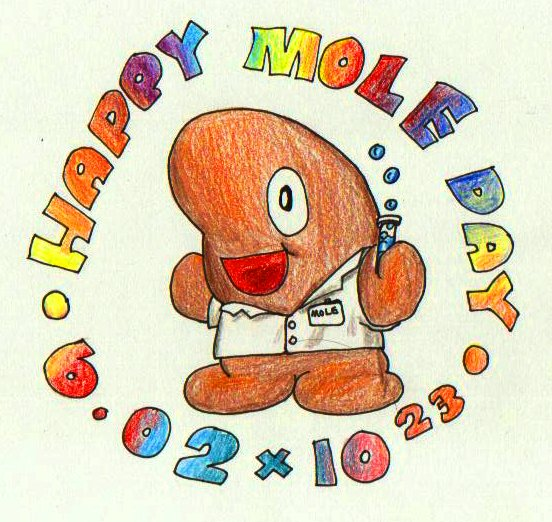 Cute mole day cartoon - photo#54