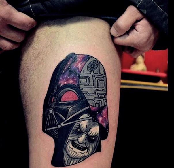 6a294b3fb Star Wars Darth Vader Tattoo On Thigh For Men