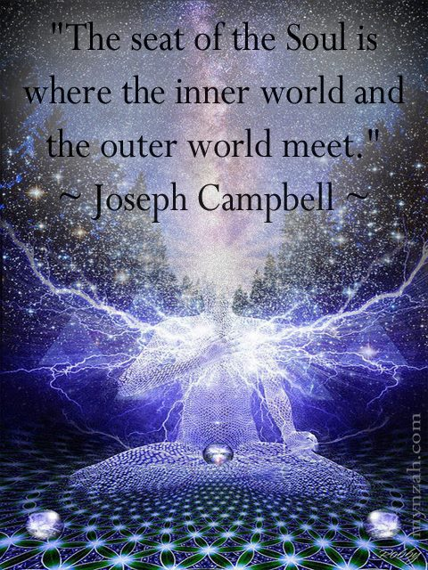 The Seat Of The Soul Is Where The Inner World And The Outer World Meet