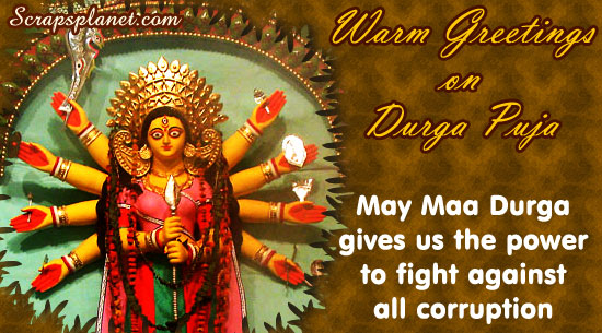 50 very beautiful happy durga pooja greeting pictures and photos warm greetings on durga puja may maa durga gives us the power to fight against all m4hsunfo