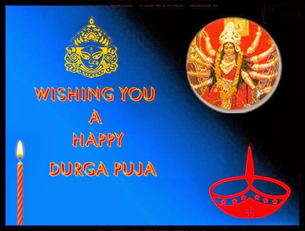 23 happy durga puja greeting card pictures and images wishing you a happy durga puja greeting ecard for you kristyandbryce Images