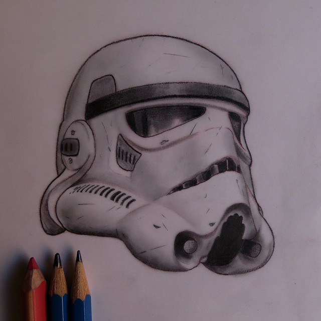 Gallery For gt Stormtrooper Helmet Tattoo Drawing