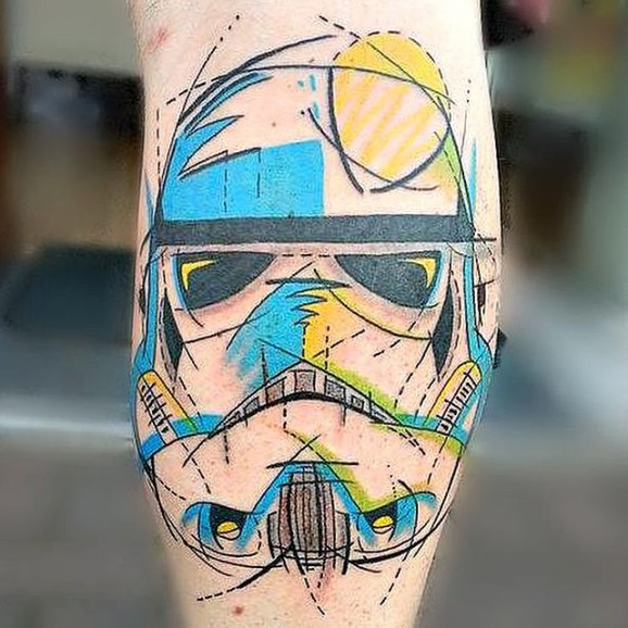 Traditional Stormtrooper Tattoo Design