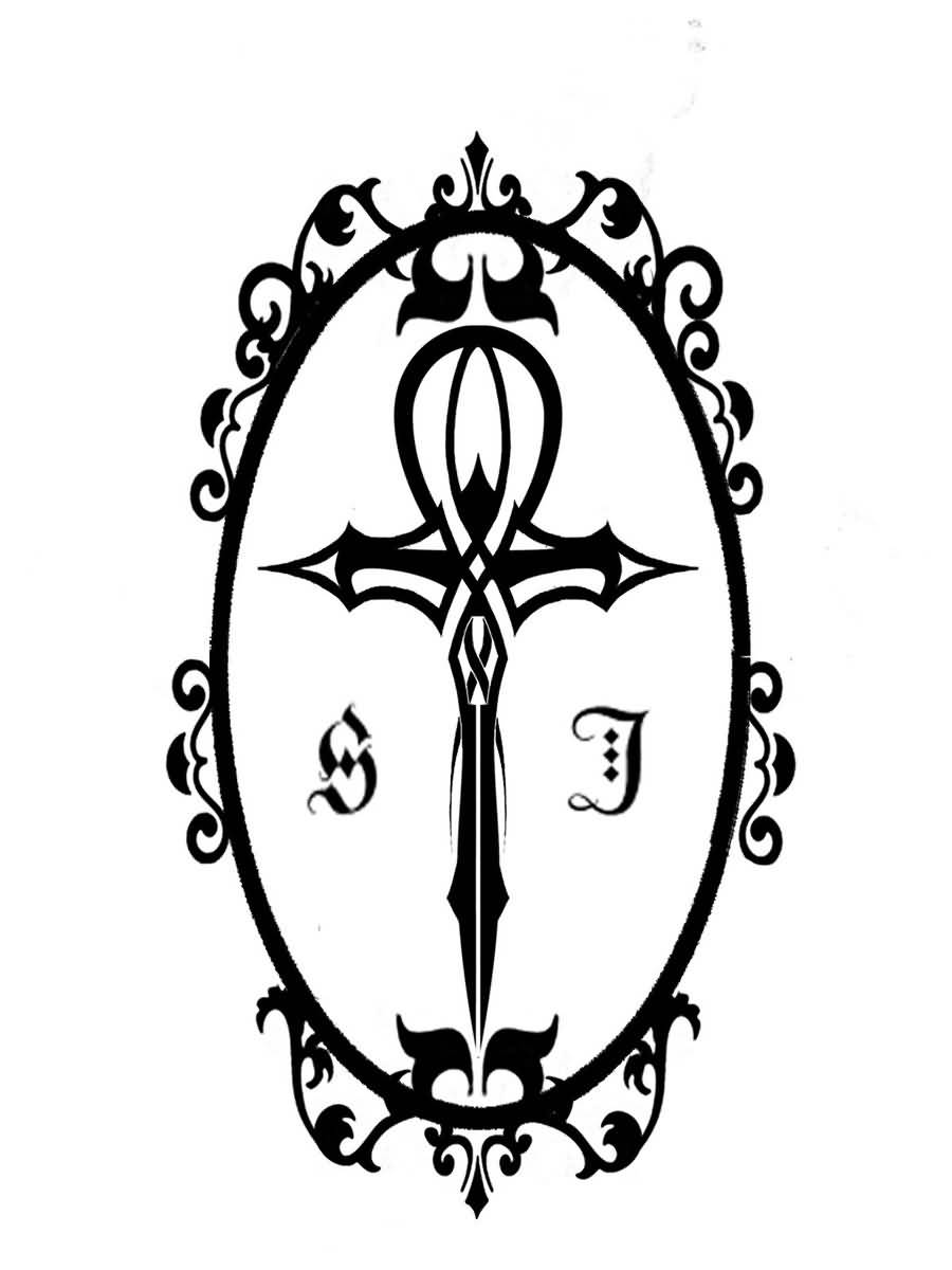 Ankh Tattoo Design by Shippo8000