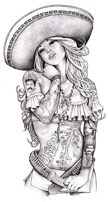 11 Mexican Charra Tattoo Designs