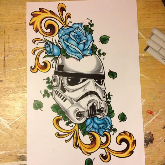 Storm Trooper Sugar Skull