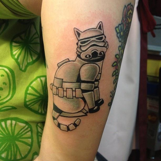 51 amazing stromtrooper tattoos for Cool cat tattoo
