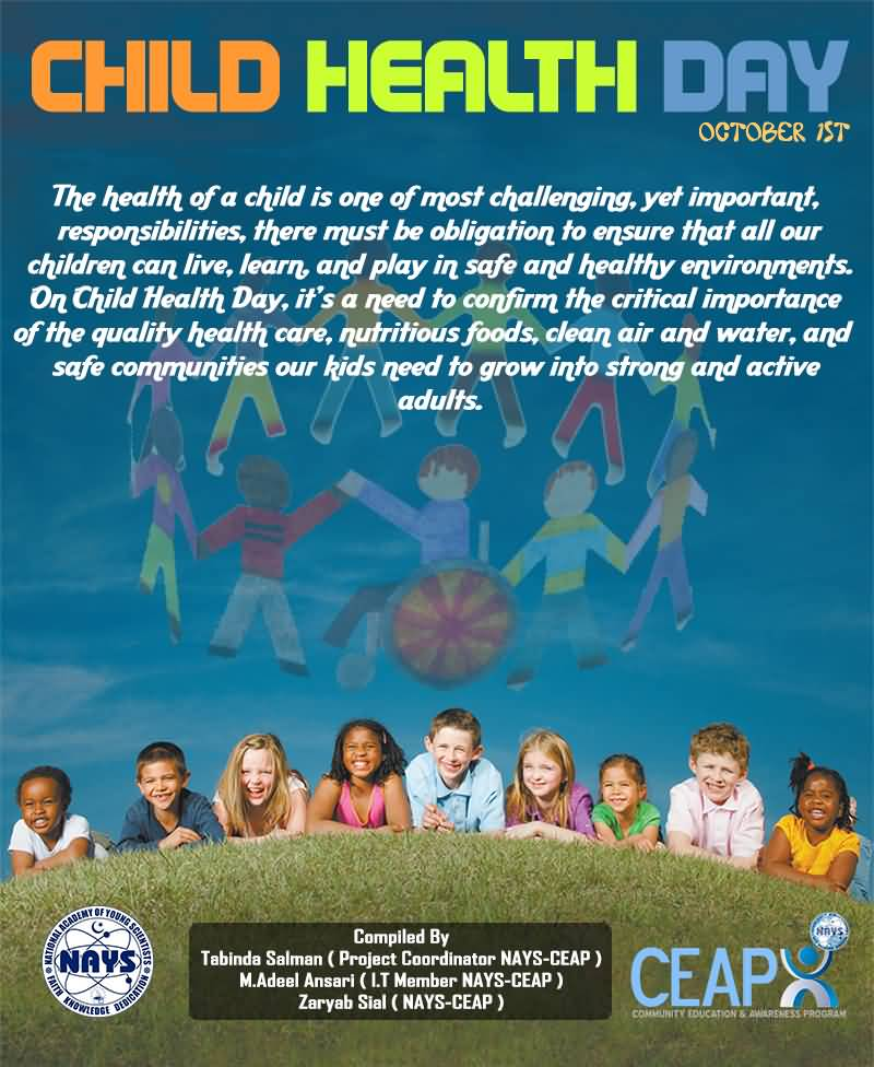 Children S Health: Child Health Day Helping Children Lead Healthy Lives Kids