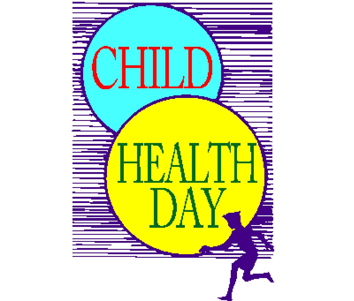 Children S Health: Child Care Health Happy Child Health Day Illustration