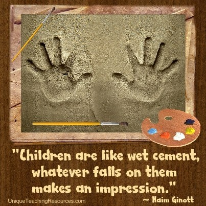 Quotes About Children Learning Children are like wet cement. Whatever falls on them makes an  Quotes About Children Learning
