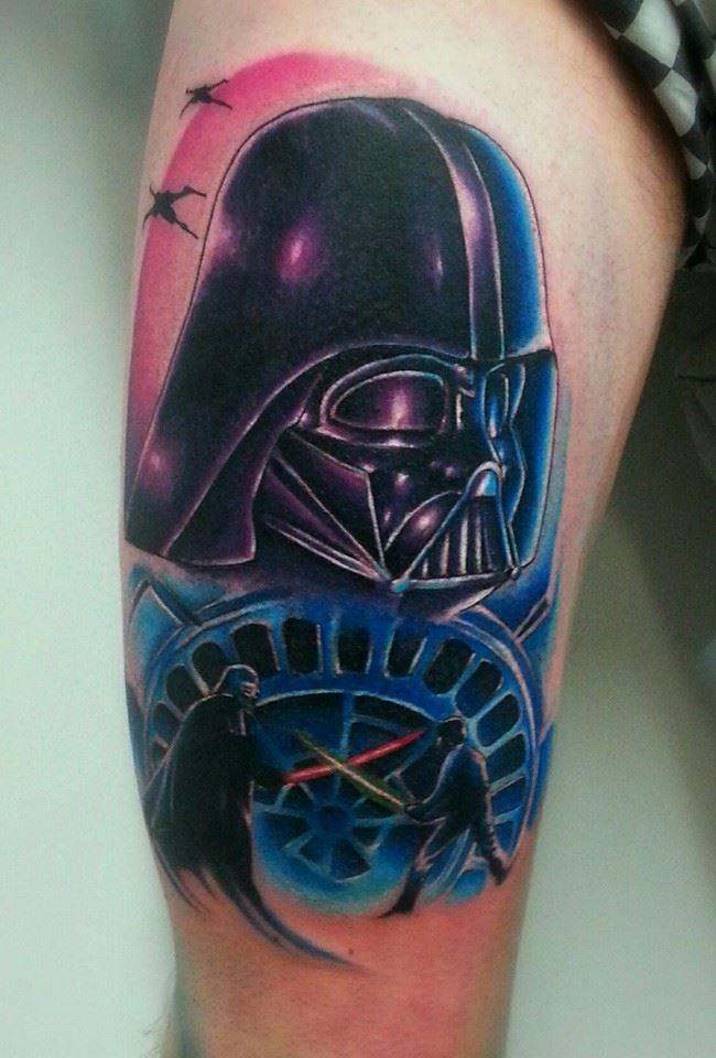 29+ Darth Vader Helmet Tattoos And Designs Darth Vader Tattoo