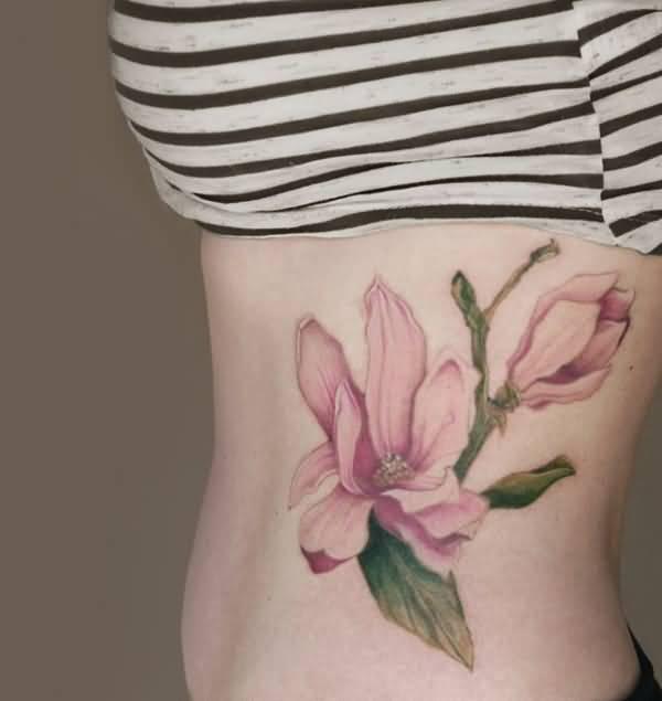 Magnolia Tree Side Tattoo Cute Bow And Owl Tatto...