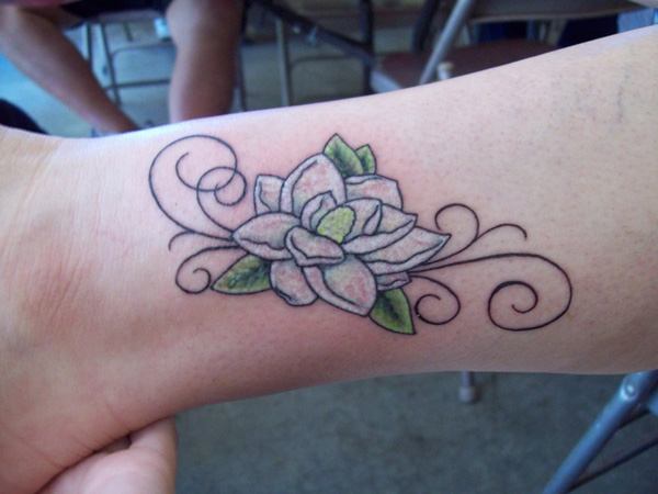 magnolia foot tattoo - photo #32