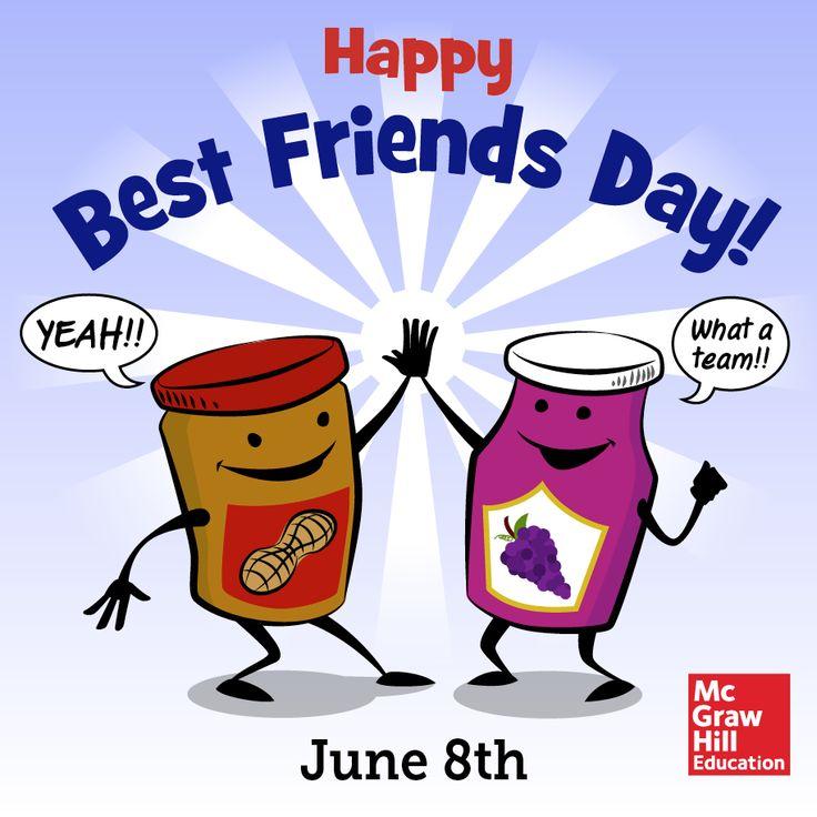 Happy Best Friends Day Jam Jars Clipart