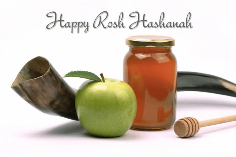 25 wonderful rosh hashanah greeting pictures to share with your happy rosh hashanah elements of rosh hashanah horn apple and honey m4hsunfo