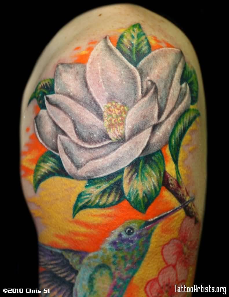 13 magnolia shoulder tattoos