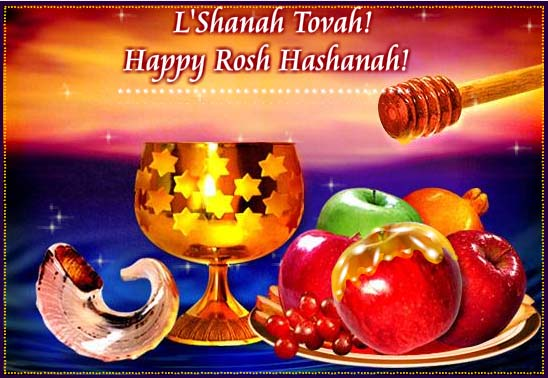 L'shanah Tovah Happy Rosh Hashanah Honey And Fruits Picture