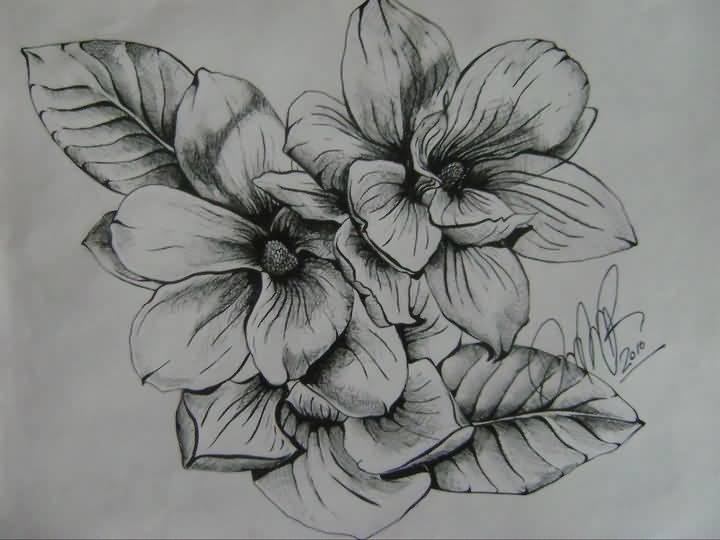Magnolia Flower Tattoo Design By Jenna Marie Rosset