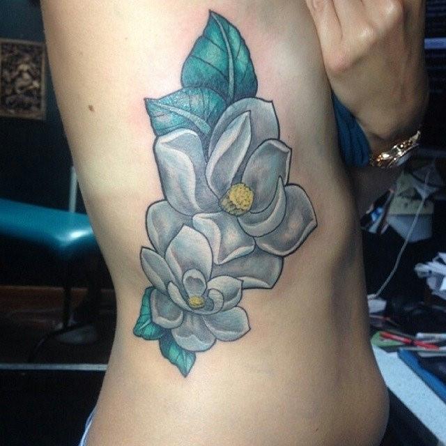 magnolia foot tattoo - photo #26