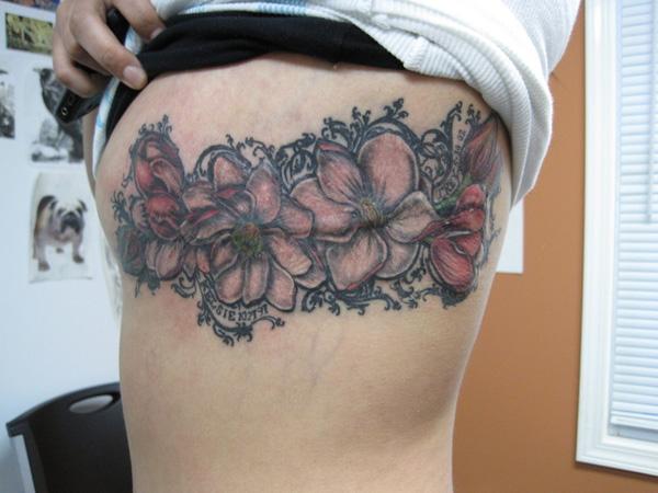 magnolia tree side tattoo - photo #22