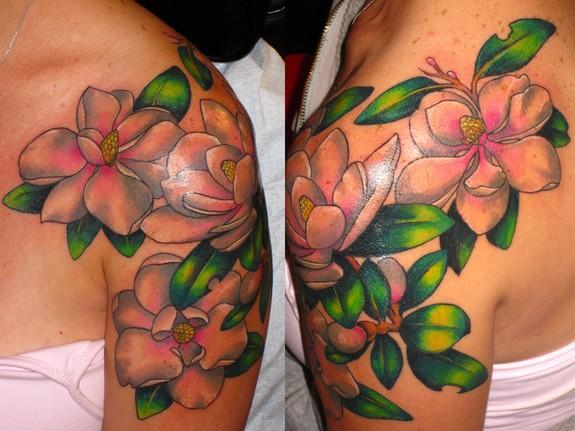 magnolia flower tattoo men - photo #41