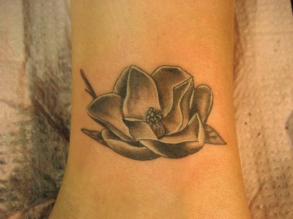 magnolia flower tattoo men - photo #4